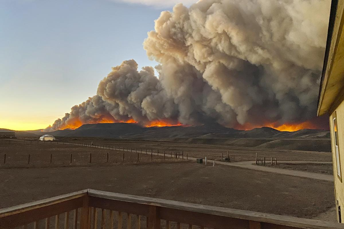 Late-season wildfires in Colorado moved unexpectedly fast, like this one outside of Granby. Dry, hot weather extended the fire season.