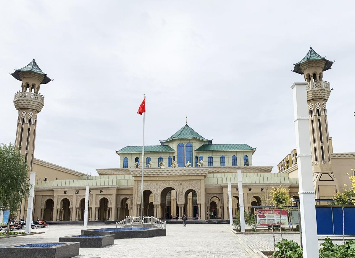 Chinese-style tile has replaced the domes and domed minarets of the Hongsibao Mosque in China's Ningxia region. Ningxia is home to a large concentration of Hui Muslims, who have long prided themselves on assimilation but are under increasing scrutiny by C