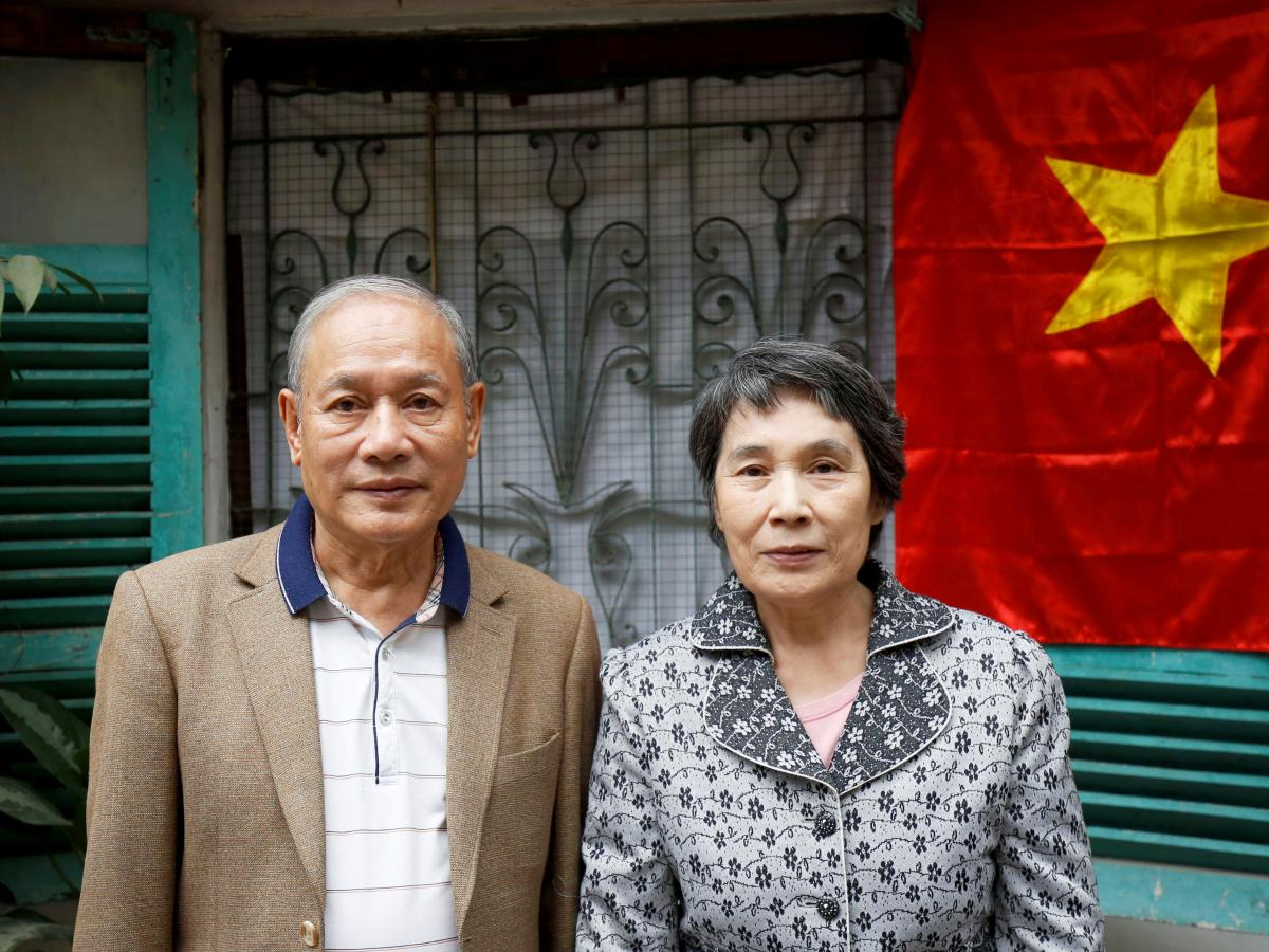 Pham Ngoc Canh, from Vietnam, met his North Korean wife, Ri Yong Hui, in 1971. They finally were able to marry in 2002 and now live in Hanoi