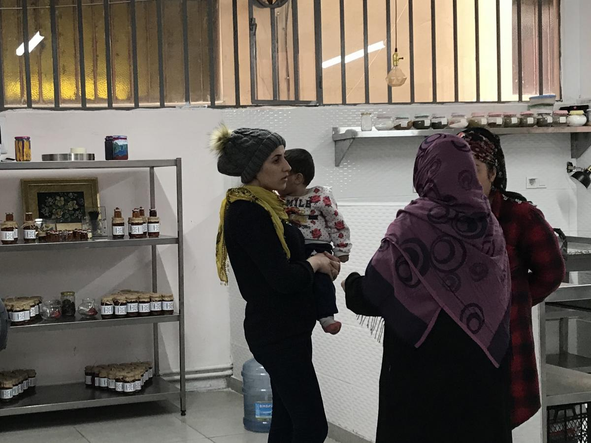 """The """"Women's Solidarity Kitchen"""" caters to Istanbul events with Syrian dishes."""