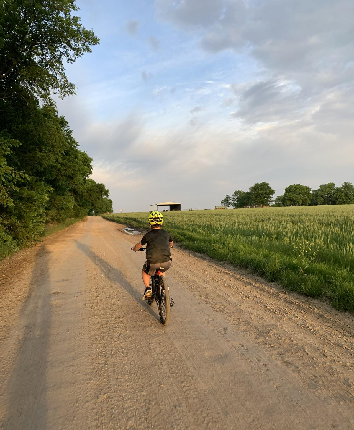 Keriann Wilmot's 10-year-old son, who has ADHD, rides his bike before school starts to help him stay focused once classwork begins.
