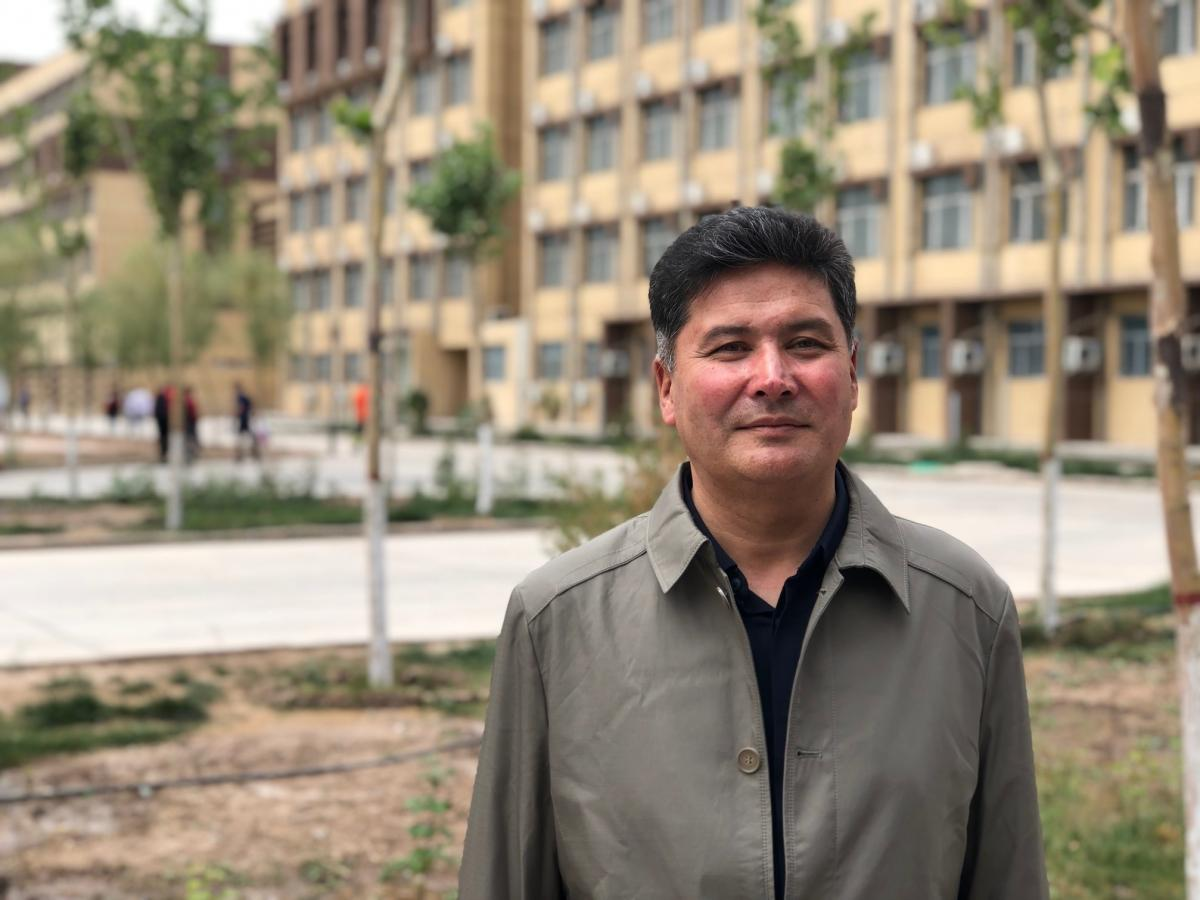 "Mejit Mahmut is the principal of the Kashgar Vocational Education and Training Center, a facility with 1,500 residents, most of them Uighur. ""People here have been infected by extremist thoughts,"" he says. ""The government wants to save and educate them, c"