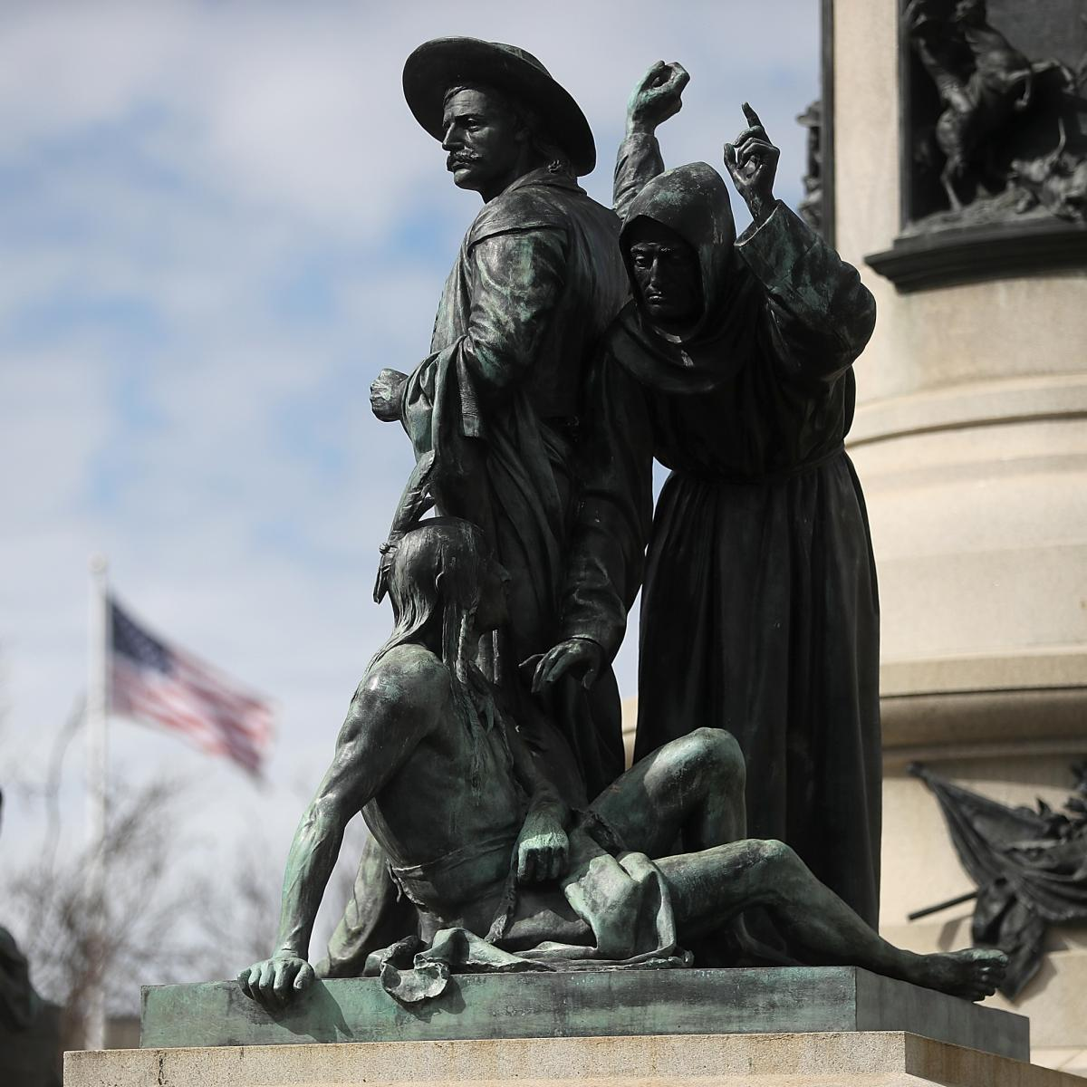 "The Pioneer Monument was dedicated in 1894. ""Early Days,"" pictured on March 12, was one of several statues featured in the monument."