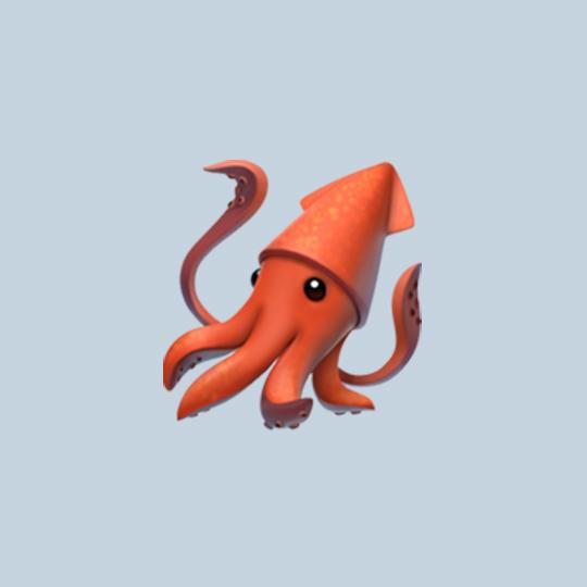 This updated version of Apple's squid emoji no longer has the misplaced siphon it originally had.
