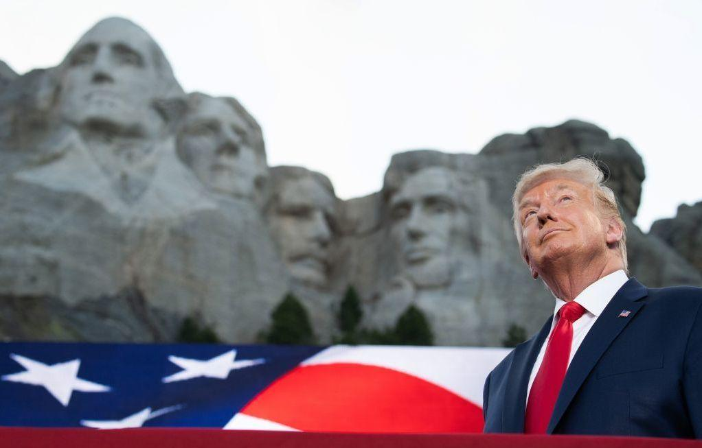 Then-President Donald Trump arrives for Independence Day events at Mount Rushmore National Memorial in Keystone, S.D., on July 3, 2020.