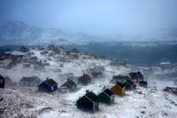Byen Tasiilaq i Østgrønland.