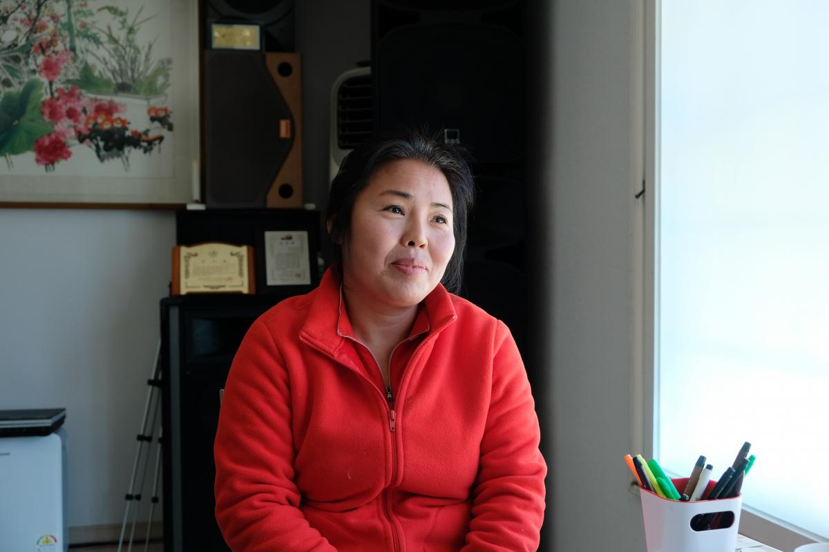 """Lee Ye-joo, a defector from North Korea, speaks during an interview at her home in Chungnam Province, South Korea. She worked as a fortune teller in the North, where, she says, """"the only people who seek out fortune-tellers are those with money, like big-n"""