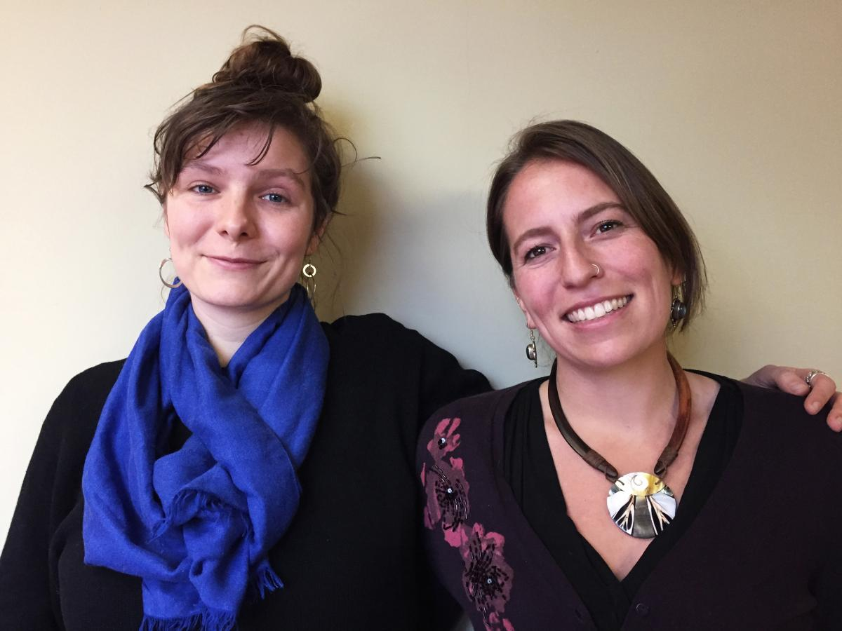 """Josephine Ferorelli (left) and Meghan Kallman are the co-founders of Conceivable Future, a nonprofit founded on the notion that """"the climate crisis is a reproductive crisis."""""""