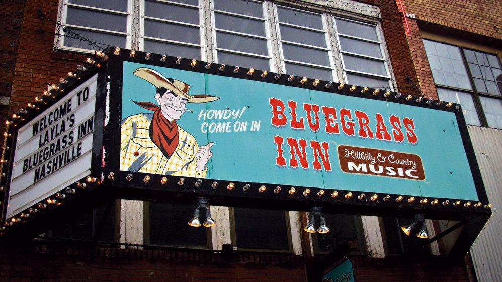 """Marquee painted by Norma Jeanne Maloney on """"Honky-tonk Row"""" in Nashville, Tenn."""