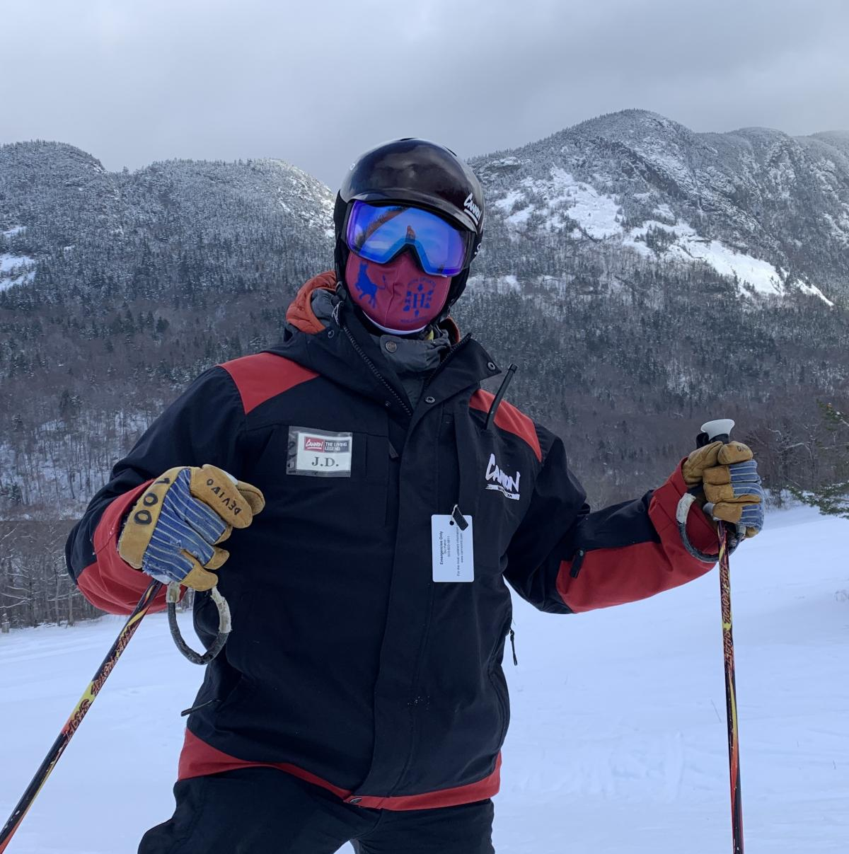 Cannon Mountain General Manager John DeVivo skis and rides the chairlifts each day to make sure the safety rules are being followed. He wants to make sure the ski area can stay open and keep upwards of 500 workers employed.