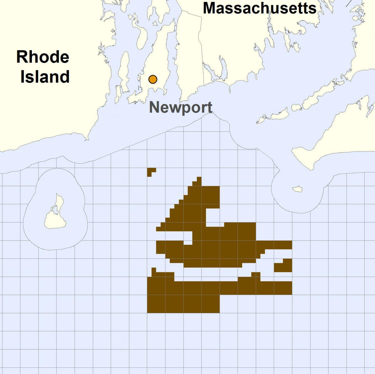The Rhode Island and Massachusetts Wind Energy Area covers more than 250 square miles about 10.5 miles south of the Rhode Island coastline. The area is divided into two lease areas.