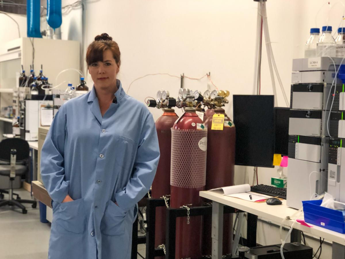 Shannon Stevens is laboratory director for Washington-based Confidence Analytics, which tests cannabis products before they are solid in licensed retail shops.