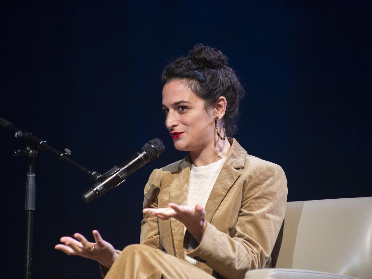 Jenny Slate spoke with Audie Cornish at the Lisner Auditorium in Washington, D.C.