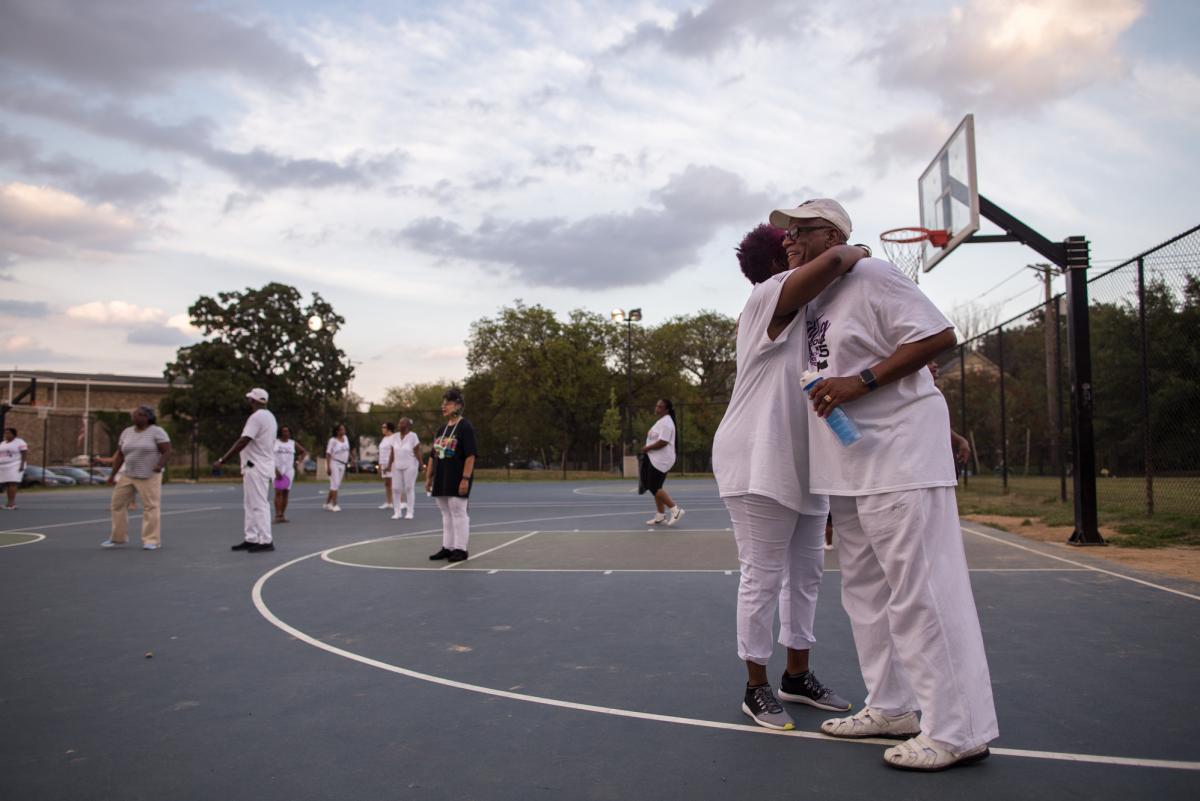 """Daryl Watson (right), a pastor at a Baptist church, says dancing keeps him in shape and helps him unwind. The Addicts refer to him as """"the reverend;"""" his other nickname is """"Smooth Operator."""""""