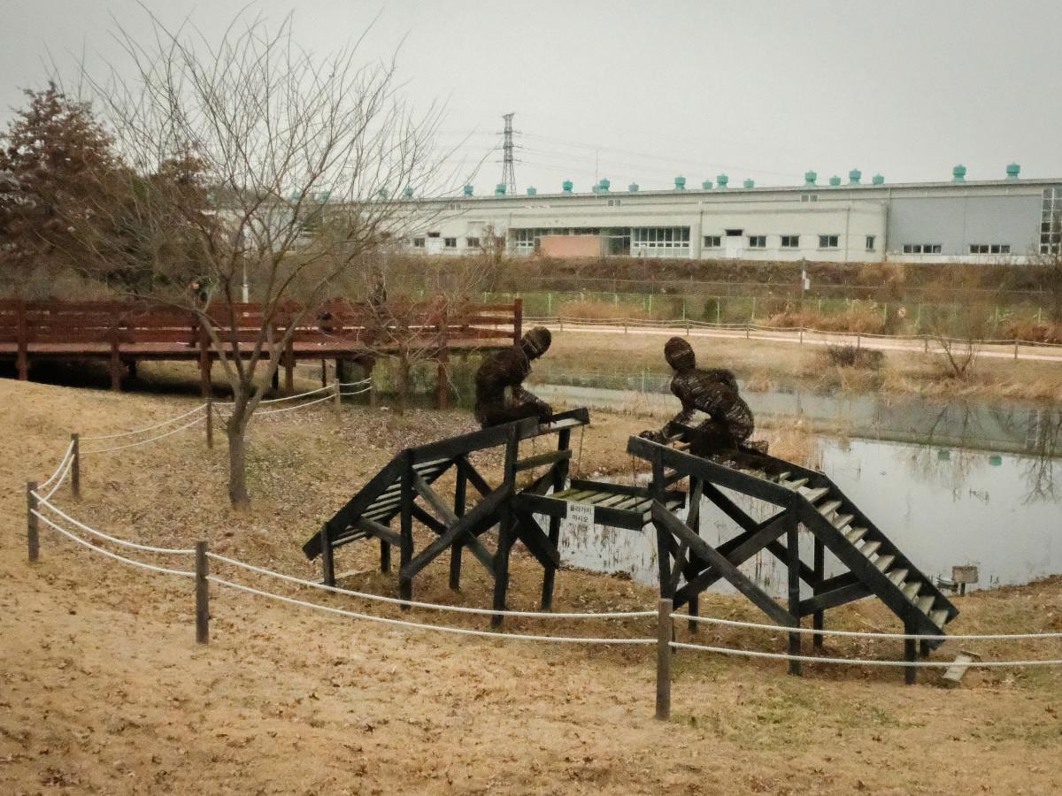 A statue symbolizing the divided state of the Korean people.