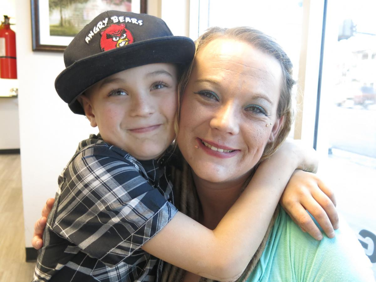 Autumn Haggard-Wolfe, now in recovery and shown here with her son Dustin, is a Denver resident and former Arapahoe House patient. She worries Arapahoe's closing will have dire consequences, especially for people who need inpatient care, as she did.