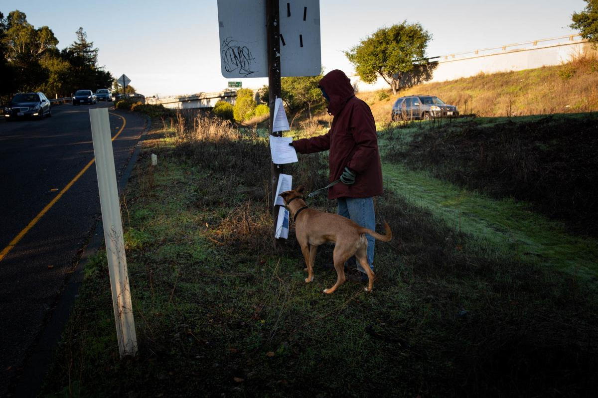 The California Department of Transportation is required to post notices of cleanups before clearing out homeless encampments on state property. But housing advocates, who say the agency doesn't always comply with the rules, are suing the state over seized