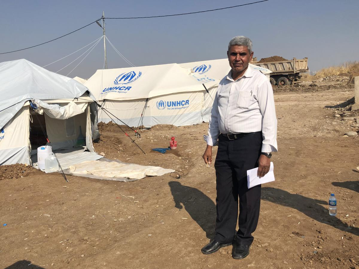 Alwan Abbas, staying at the Gawilan camp, says it took his family two weeks to make their way to the border with Iraq.