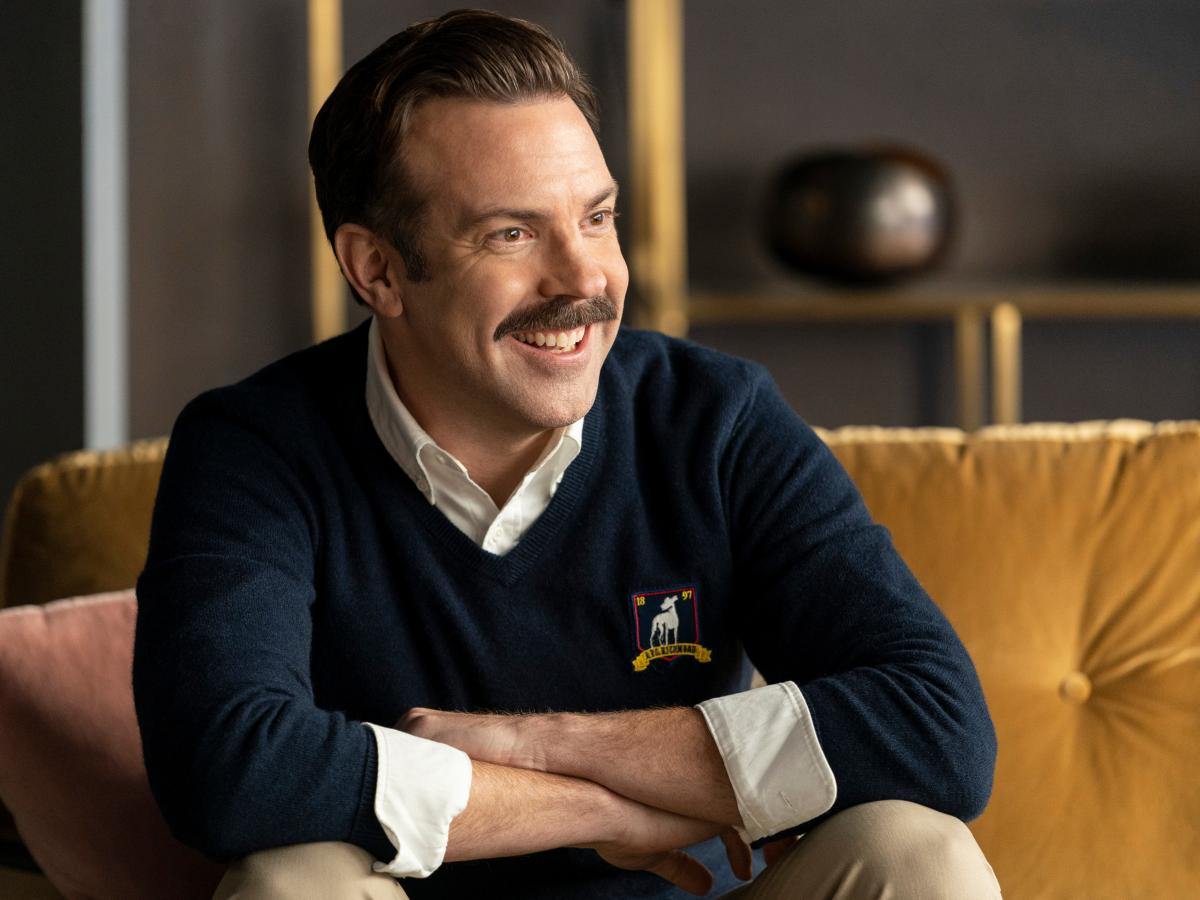 Jason Sudeikis in Ted Lasso.