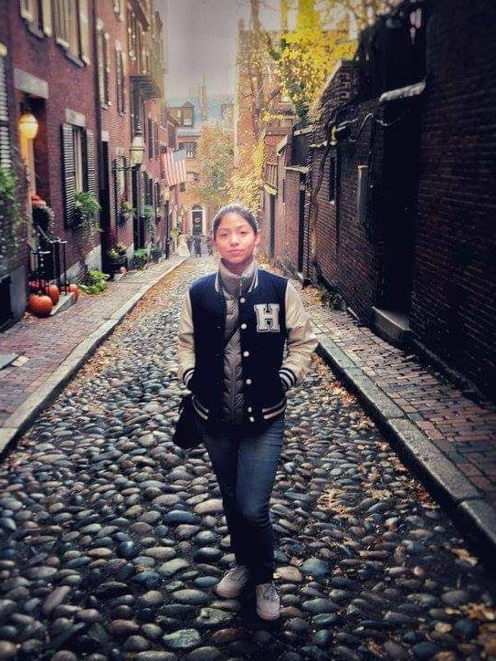 Isis Mabel in Boston in 2016, soon after she came to the U.S. to work with a family as an au pair. Mabel got basic health coverage through her au pair agency, but didn't realize she could buy much more comprehensive health insurance, with subsidized premi