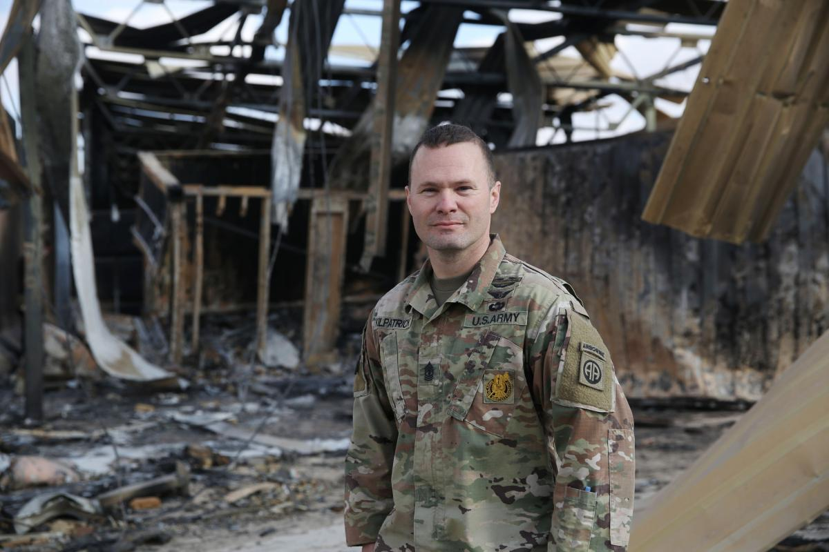 "First Sgt. Westley Kilpatrick commands drone operators. ""We heard there was a potential foreign enemy attack but we didn't know where exactly it was going to happen,"" he says. ""I think our biggest fear was the ground attack. We weren't quite expecting the"