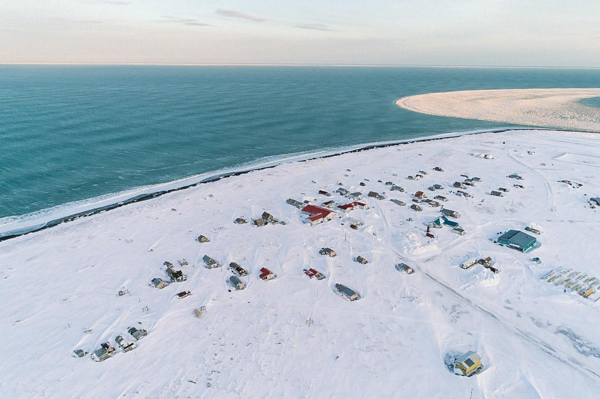 Gambell, Alaska, is on St. Lawrence Island in the Bering Sea. On clear days, Siberia is visible in the distance. People have lived on the island for thousands of years and developed subsistence hunting strategies and traditions that are still being passed