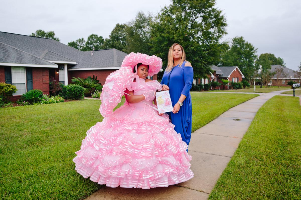 "Taylor Boykin was the second African American queen for the Azalea Trail Maids Court. Her aunt Kim was a Trail Maid in 1982. ""Now I have the dress. That's what I like to tell people. ... It's a new thing now,"" she says."
