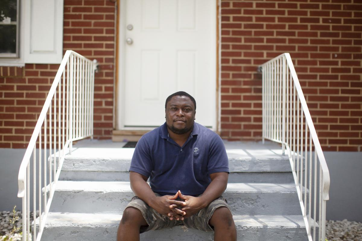 Akouete Yemey purchased his house in Roanoke, Va., from HUD. The house is located in the highest-risk flood zone. Yemey says buying directly from the government initially made him trust that the house was safe. He is considering a government buyout so his