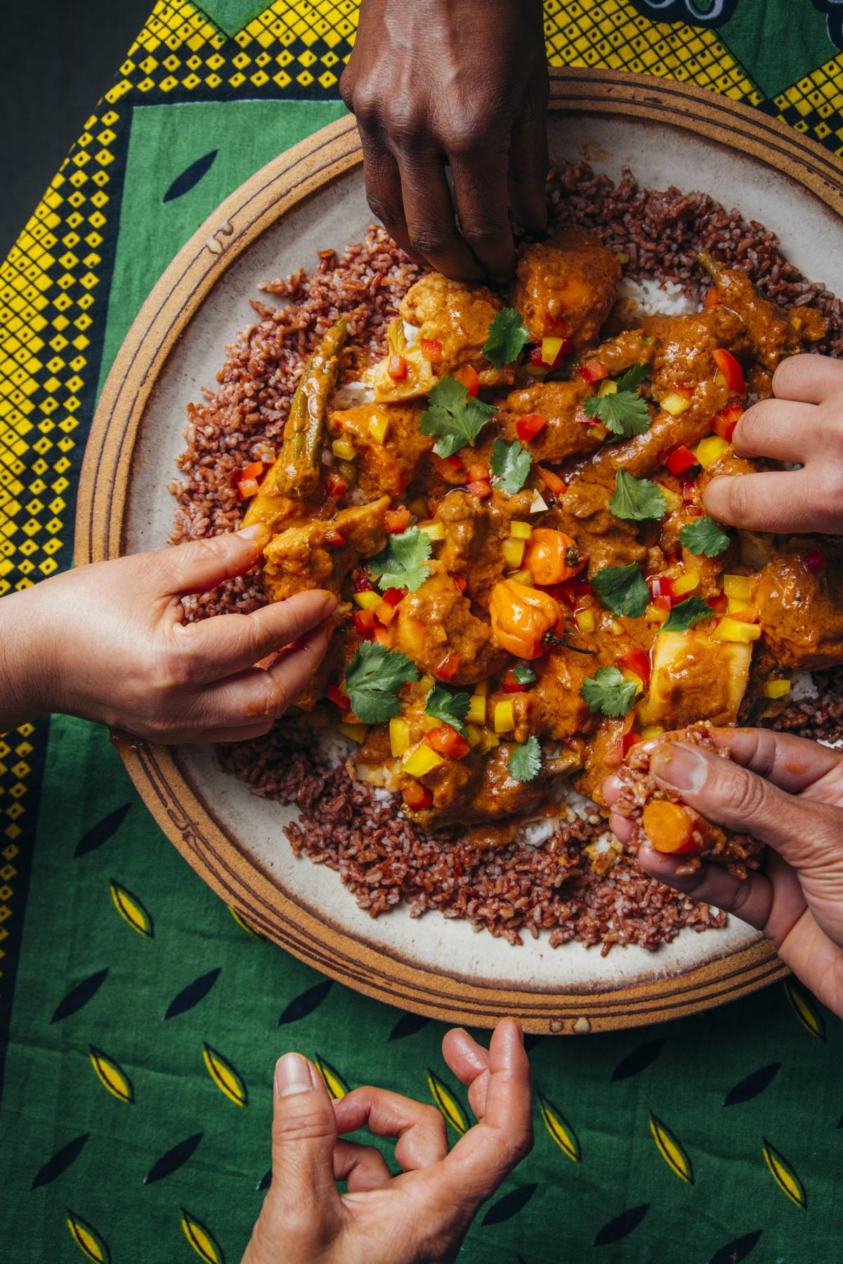 Mafé is a peanut stew that Nafy Flatley started cooking when she was 8 in Senegal. She is the owner of Teranga, a beverage company she founded with help from La Cocina.