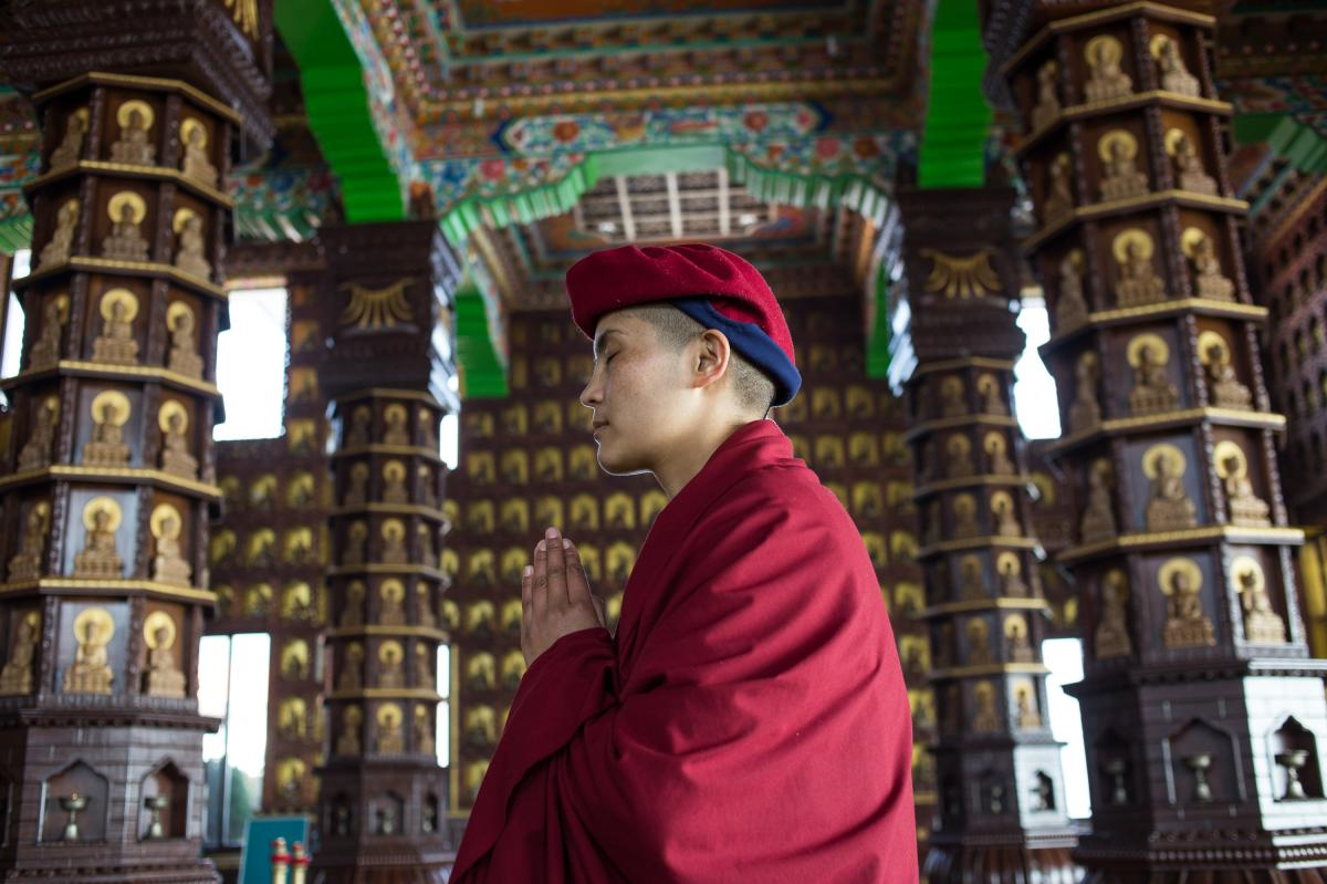 Jigme Yeshe Lhamo ran away from home at age 16 to join the nunnery. Now 31, she says that says practicing the martial art of kung fu has given her confidence.
