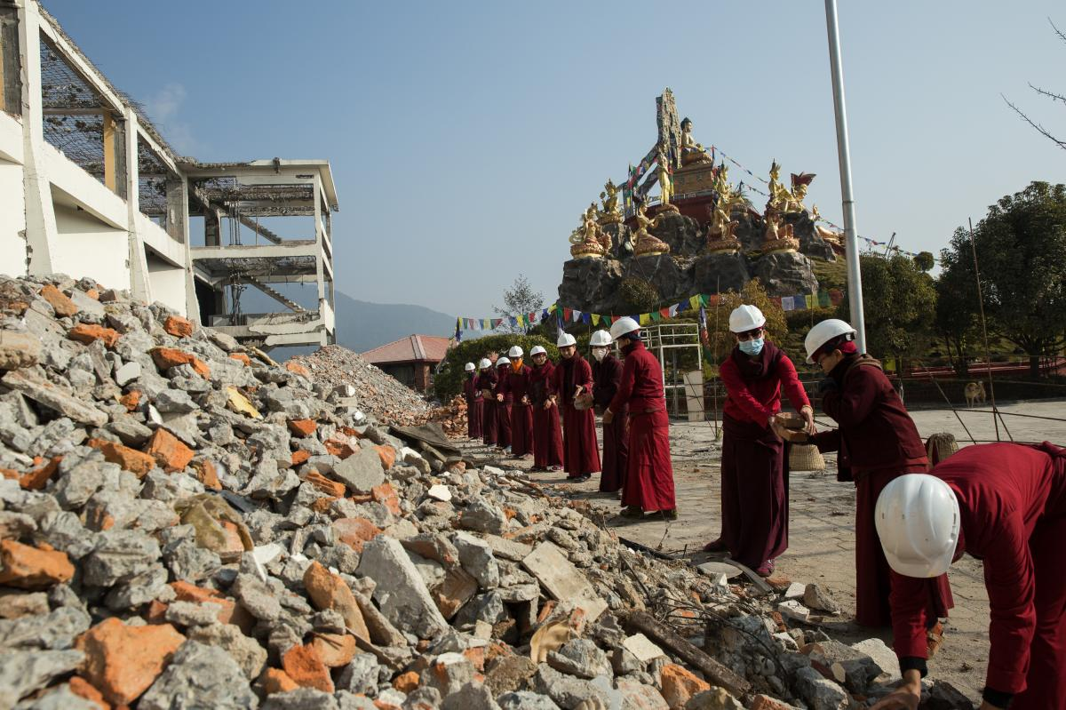 The nuns have helped with rebuilding efforts after the 2015 earthquake that caused widespread destruction in Nepal.