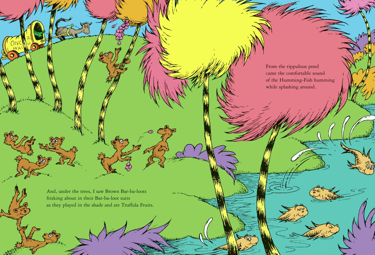 A page from The Lorax