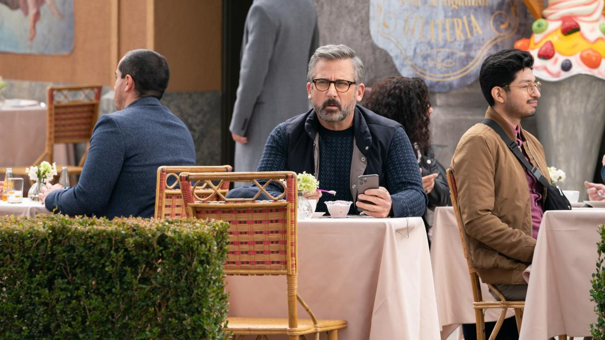 Poor Mitch (Steve Carell) just wants to eat his gelato.