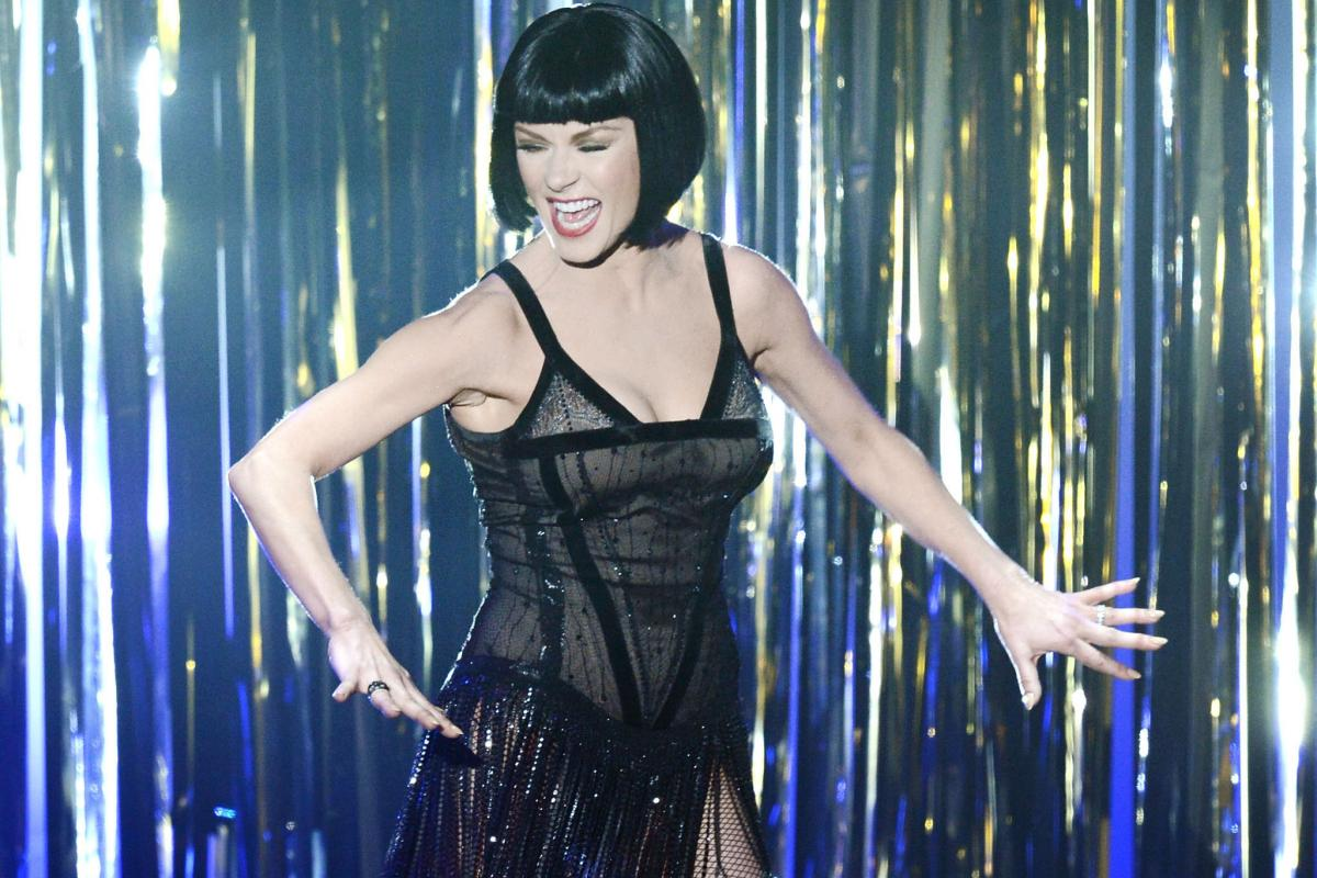 """Catherine Zeta-Jones performs a number from """"Chicago"""" in a tribute performance to recent Hollywood musicals."""