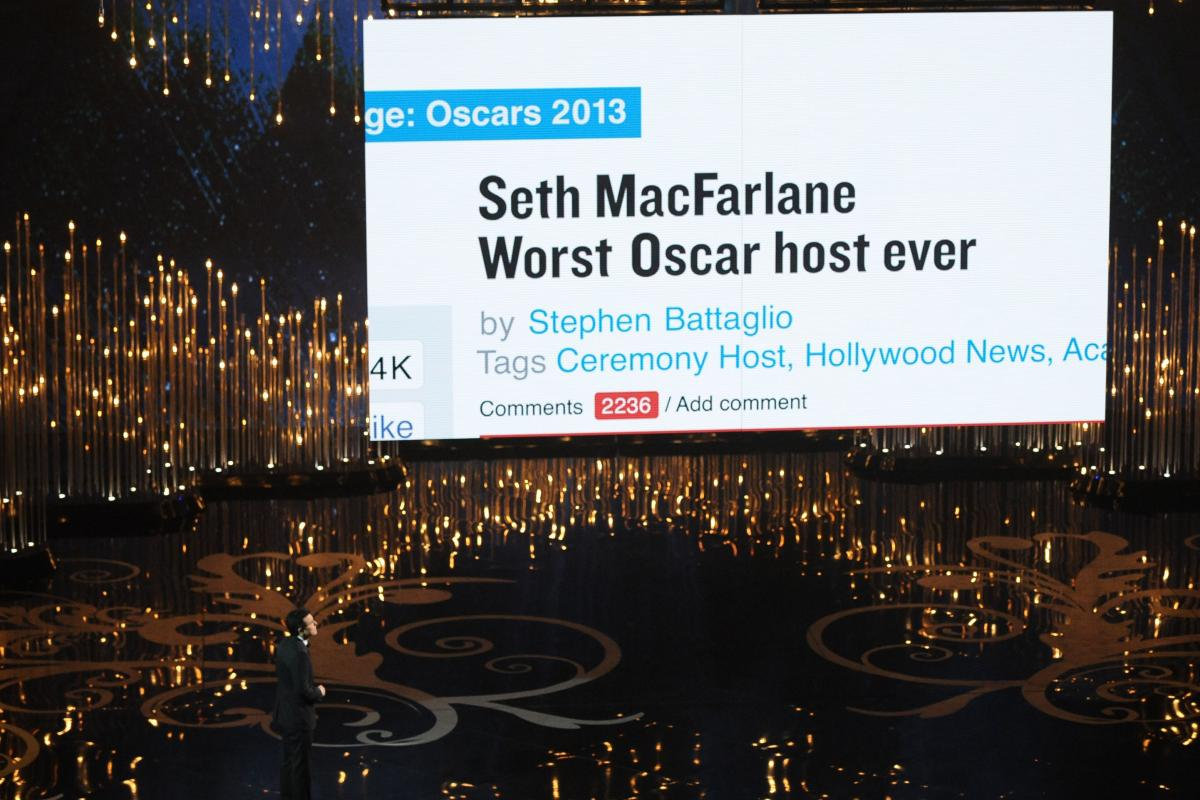 """The 85th Annual Academy Awards were hosted by Seth MacFarlane, creator of TV's """"Family Guy."""""""