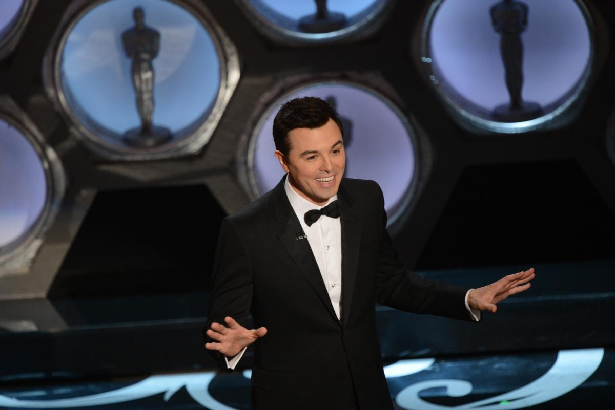 Host Seth MacFarlane speaks onstage at the 85th Annual Academy Awards.