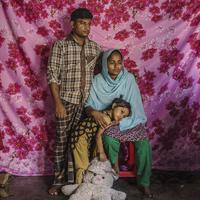 """Saju Talukdar had worked at the 2013 Rana Plaza garment factory before it collapsed. """"Having a job is important for a person and his family,"""" he says. """"Our condition will never be as great as it was before. Previously my wife and I both worked and earned"""