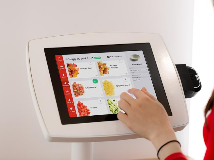 Eatsa's virtual cashier takes customers' orders and remembers them on return visits.