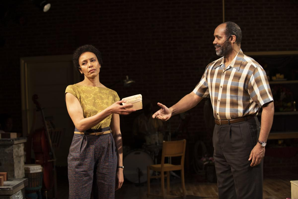 Eisa Davis, pictured here across from Nathaniel Stampley, plays one of the beekeeper sisters.