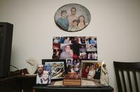 Family photos inside the Bordelon home on Schnell Drive.