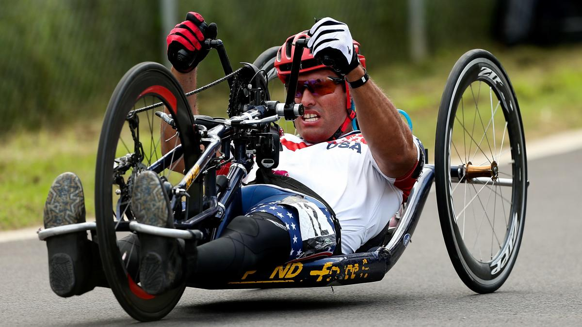 Ryan Pinney, an Arizona native, will compete in his first Paralympic Games this August. He isn't fazed by heat, but because of a spinal cord injury, he has to make extra efforts to regulate his core body temperature.