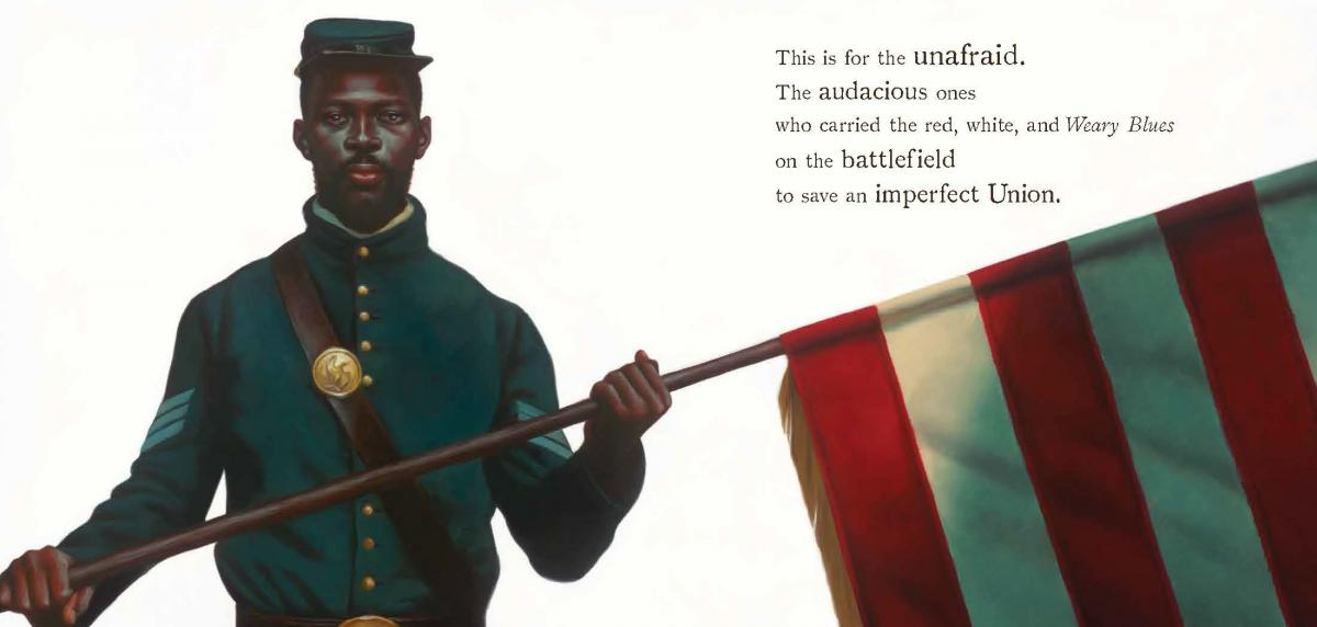 A glimpse inside The Undefeated, illustrated by Kadir Nelson and written by Kwame Alexander. The book won the Caldecott Medal on Monday at the annual Youth Media Awards in Philadelphia.