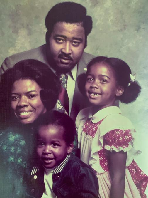 Catherine, Jerry, Anderson and Karen Lawson, photographed in the 1970s