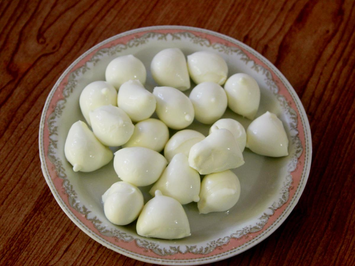 The monastery makes a small range of Italian cheeses, including bocconcini.