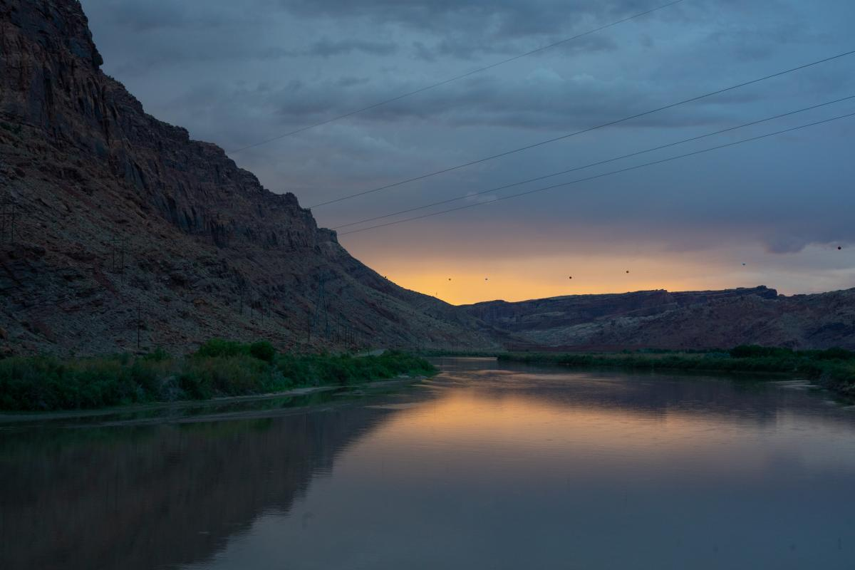 The Colorado River runs just west of Moab along federal Bureau of Land Management land, which has seen a surge of visitors happy to be out of their homes.