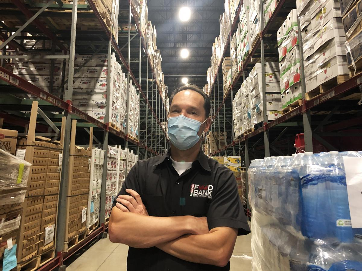 Eric Cooper is CEO of the San Antonio Food Bank, which has experienced 100 percent more clients because of the pandemic and not enough donations to keep up.