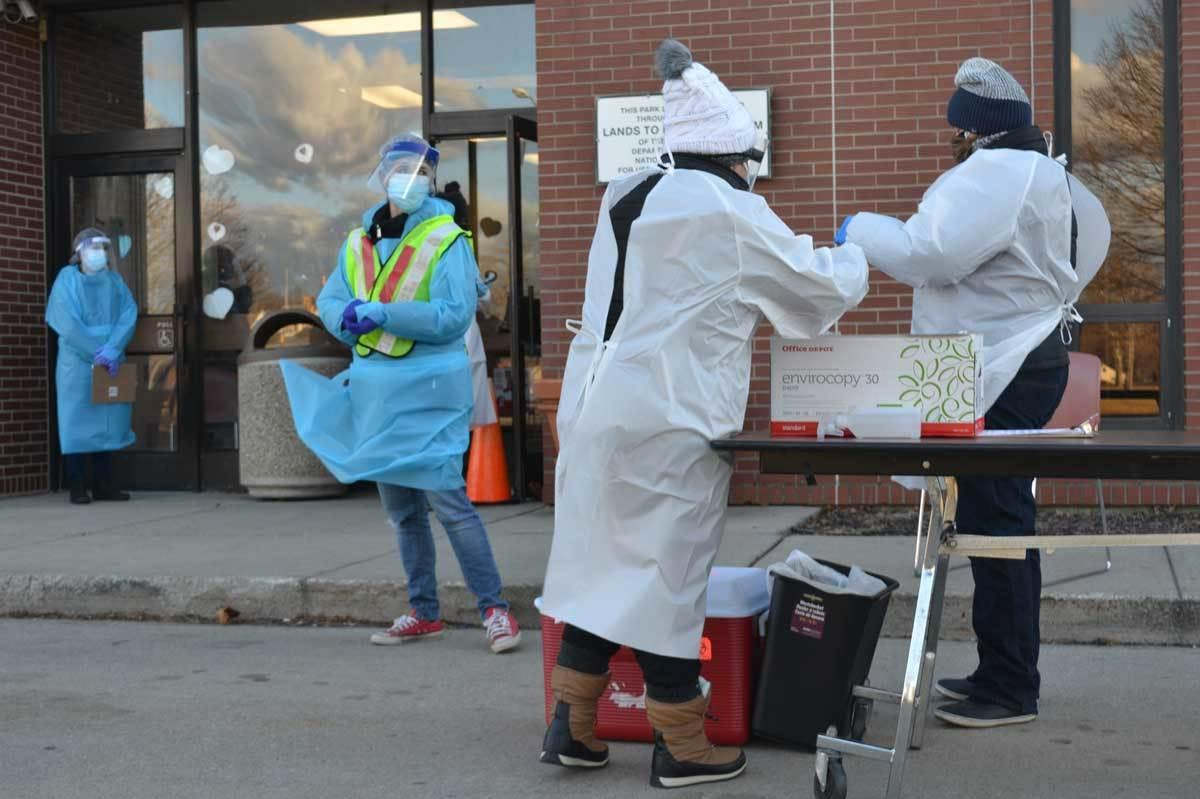 Citing a lack of access to testing for many vulnerable essential workers, a group of researchers teamed up with a local health clinic to organize pop-up coronavirus testing events in the central Illinois town of Rantoul.