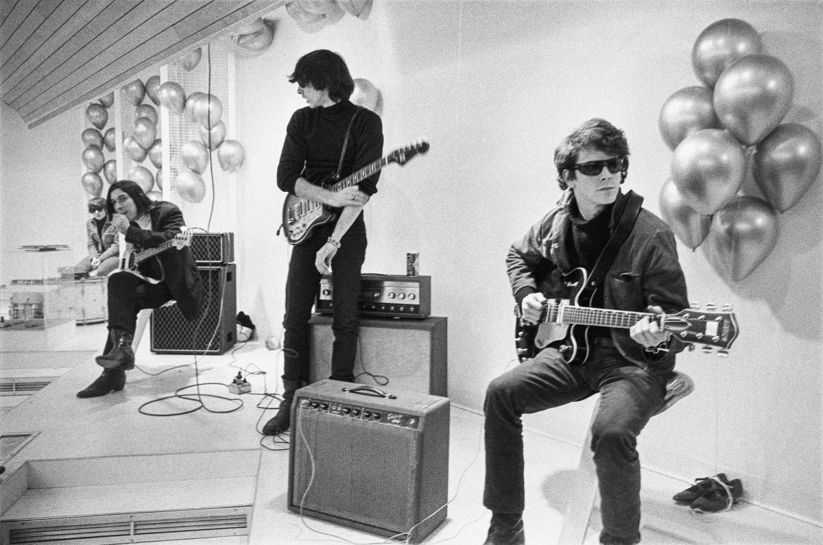 """Moe Tucker, John Cale, Sterling Morrison and Lou Reed from archival photography from """"The Velvet Underground."""""""