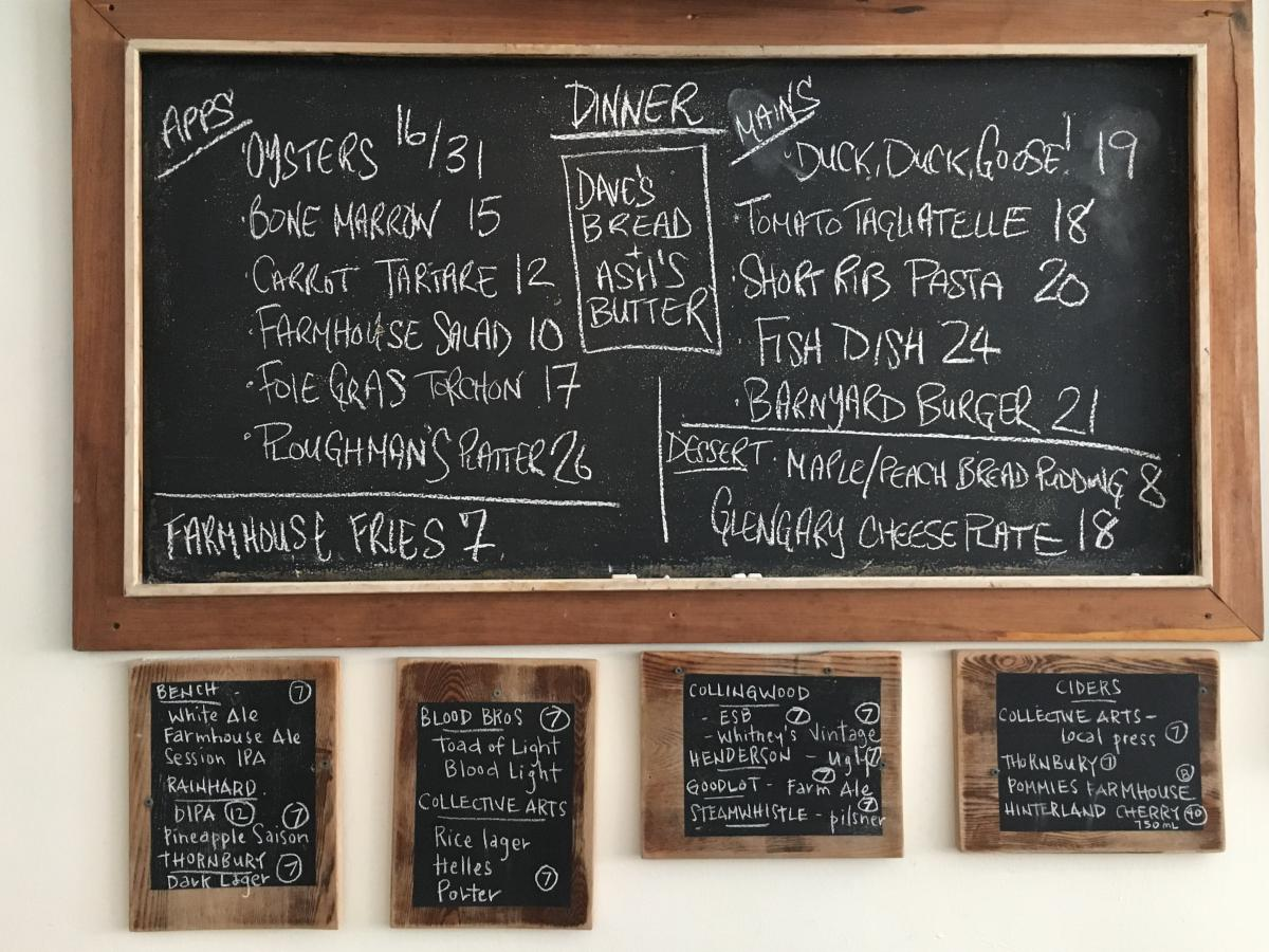 Farmhouse Tavern relies on chalkboard menus, the better to cross off dishes as the night wears on.