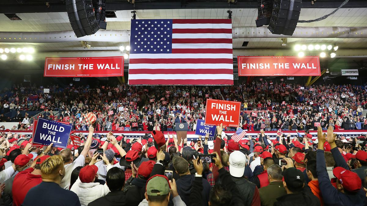 President Trump speaks during a rally Tuesday in El Paso, Texas.